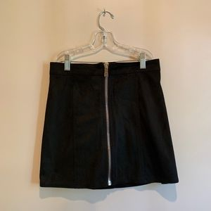 Forever21 Black Zipper-Front Skirt
